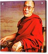H.h. Dalai Lama Acrylic Print by Jan Faul