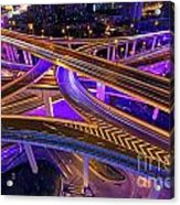 Highway Intersection In Shanghai Acrylic Print by Lars Ruecker