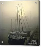 Honfleur Harbour In Fog. Calvados. Normandy. France. Europe Acrylic Print by Bernard Jaubert