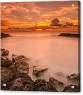 Honolulu Sunset Acrylic Print by Tin Lung Chao