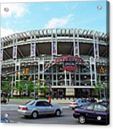 Jacobs Field - Cleveland Indians Acrylic Print by Frank Romeo