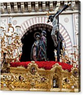 Jesus Christ On The Cross In Cordoba Acrylic Print by Artur Bogacki