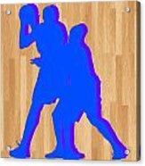 Kevin Durant Kobe Bryant Acrylic Print by Joe Hamilton