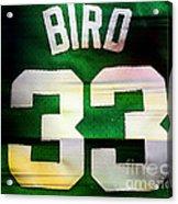Larry Bird Acrylic Print by Marvin Blaine