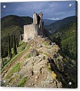 Lastours Castle Acrylic Print by Ruben Vicente