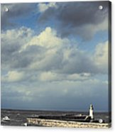Lighthouse At Whitehaven Acrylic Print by Amanda And Christopher Elwell
