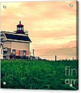 Lighthouse Prince Edward Island Acrylic Print by Edward Fielding
