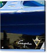 Lincoln Capri Emblem Acrylic Print by Jill Reger
