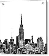 Manhattan Skyline Acrylic Print by John Farnan