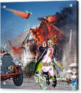 Mario Moreno As Cantinflas In El Bombero Atomico  Acrylic Print by Jim Fitzpatrick