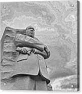 Martin Luther King Jr Memorial Acrylic Print by Allen Beatty