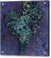Mechanical - Heart Acrylic Print by Fran Riley