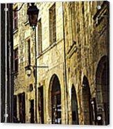 Medieval Street In France Acrylic Print by Elena Elisseeva