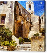 Mediterranean Steps Acrylic Print by Pixel Chimp