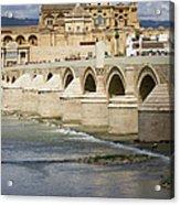 Mezquita And Roman Bridge In Cordoba Acrylic Print by Artur Bogacki