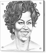Michelle Obama Acrylic Print by Murphy Elliott
