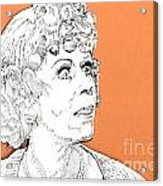 momma on Orange Acrylic Print by Jason Tricktop Matthews