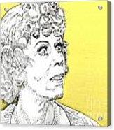 Momma On Yellow Acrylic Print by Jason Tricktop Matthews