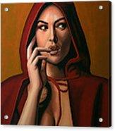 Monica Bellucci Acrylic Print by Paul Meijering