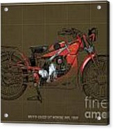 Moto Guzzi Gt Norge 500 1928 Acrylic Print by Pablo Franchi