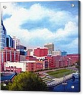 Nashville Skyline Acrylic Print by Janet King