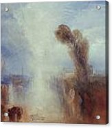 Neapolitan Fisher Girls Surprised Bathing By Moonlight Acrylic Print by Joseph Mallord William Turner