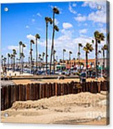 Newport Beach Dory Fishing Fleet Market Acrylic Print by Paul Velgos