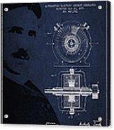 Nikola Tesla Patent From 1891 Acrylic Print by Aged Pixel