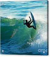 Off The Lip Acrylic Print by Paul Topp