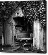 Old Barn And Wagon Acrylic Print by Julie Dant