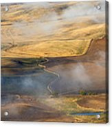 Patterns Of The Land Acrylic Print by Mike  Dawson