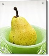 Pear Still Life Acrylic Print by Edward Fielding