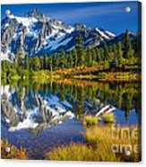 Picture Lake Acrylic Print by Inge Johnsson