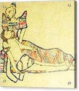 Pieta Acrylic Print by Gloria Ssali