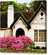 Pink Azaleas - Old Southern Charm By Sharon Cummings Acrylic Print by Sharon Cummings