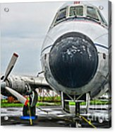 Plane Noses Up Acrylic Print by Paul Ward