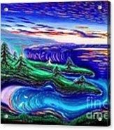 Point Lobos California China Cove Acrylic Print by David Earl Weaver