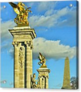 Pont Alexandre IIi Acrylic Print by Mountain Dreams