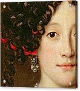 Portrait Of A Woman Acrylic Print by Jacob Ferdinand Voet