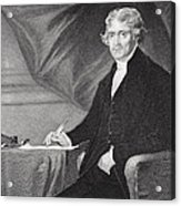 Portrait Of Thomas Jefferson Acrylic Print by Alonzo Chappel