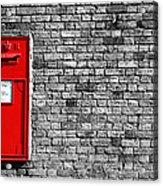 Post Box Acrylic Print by Mark Rogan