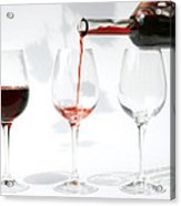 Pouring Red Wine Into Glass Acrylic Print by Patricia Hofmeester