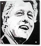 President William Clinton Acrylic Print by Robert Lance