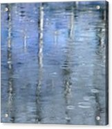 Raindrops On Reflections Acrylic Print by KM Corcoran