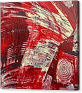 Red And White Acrylic Print by Gabriele Mueller
