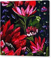 Red Flowers Acrylic Print by Shirwan Ahmed
