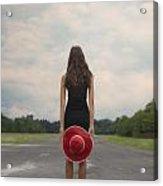 Red Sun Hat Acrylic Print by Joana Kruse