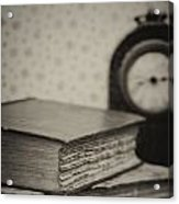 Retro Setting And Effect Of Antique Vintage Books Acrylic Print by Matthew Gibson