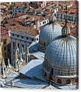 San Marco Basilica. Venice. Acrylic Print by Fernando Barozza