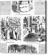 Saratoga Springs, 1859 Acrylic Print by Granger